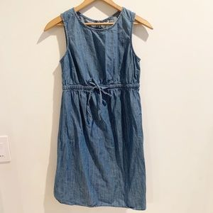 Old Navy maternity Chambray blue tie dress XS